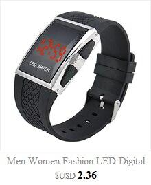 Cool Men's Oversized Design Light Digital Sports Plan Shaped Dial Wrist Watches 8