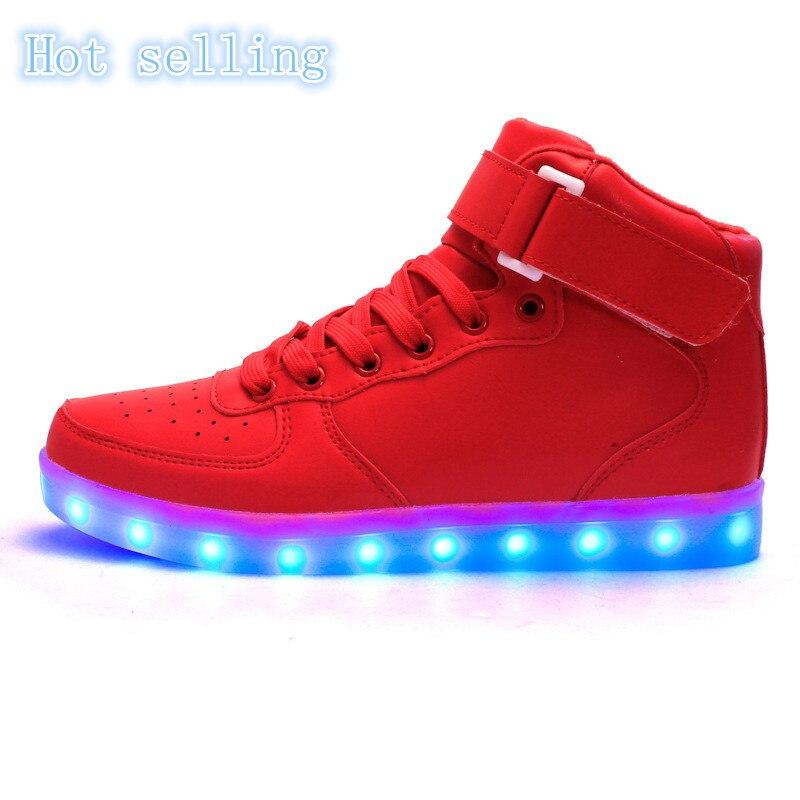 Coton hiver à l'intérieur de chargement USB LED lumières multicolores 8 chaussures H0Q0BaIsV4