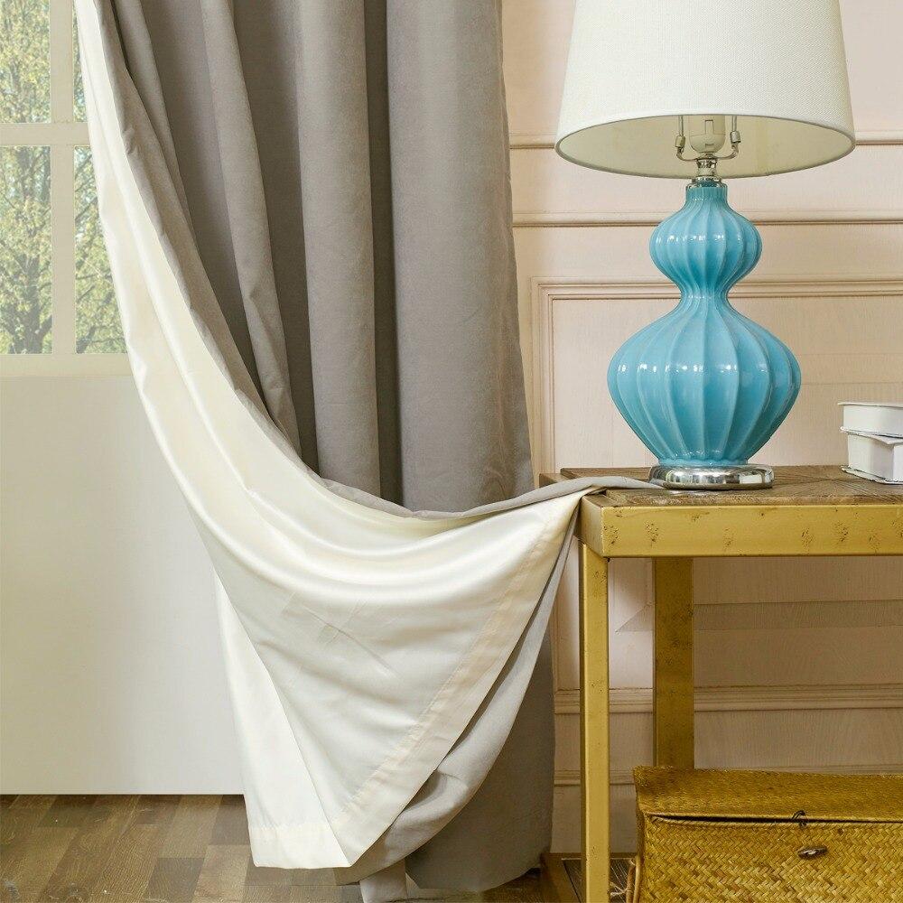 rideaux de fenetre avec doublure en daim doublure epaisse doublure thermique 100 beige pour salon