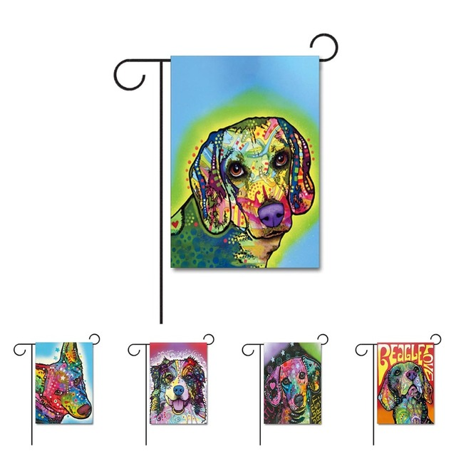 Merveilleux Fashion Dog Home Decorative Garden Flag Design With Beagle Great Dane  Animal House Flag 100%