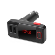 Bluetooth Car Charger BT719 Bluetooth V2.1 Hands-free Car Charger Dual USB 5V 2.1A FM Transmitter Wireless Phone Call TF Card