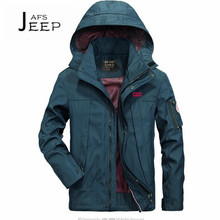 JI PU Autumn Man's Waterproof hooded military jacket,can be remove hat ventilate material Fall field active moisture proof