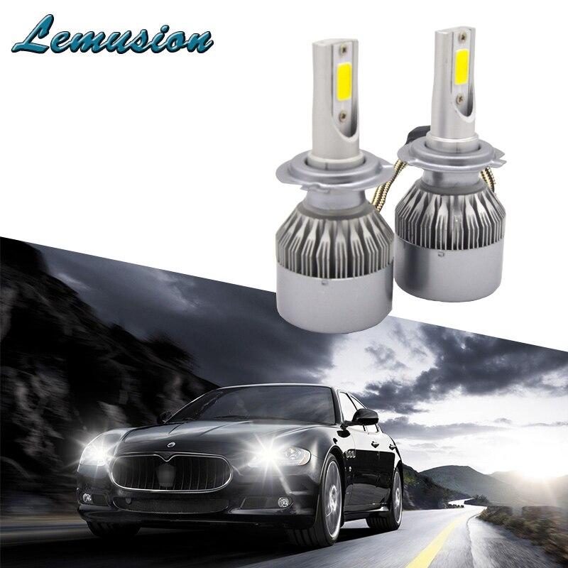 Car Lights Car Headlight Bulbs(led) 1pair Car Headlight H7 H4 Led H8/h11 Hb3/9005 Hb4/9006 H1 H3 9012 H13 9004 9007 70w 7000lm Auto Bulb Headlamp 6000k Light
