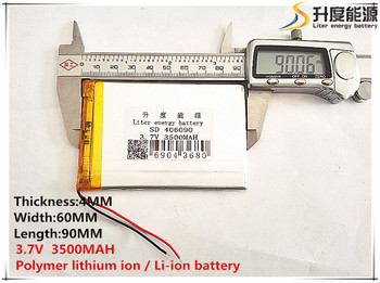 3.8V 3.7V 3500mAh [406090] Polymer lithium ion / Li-ion battery ( cell) for tablet pc,POWER BANK,cell phone image