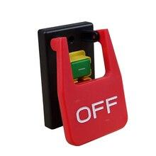 KJD17B 16 4 Pins Tafel Zagen Elektromagnetische Push Button Switches 16A AC250V Paddle Schakelaar Voor Bench Boren/Slijpmachines/Draaibanken
