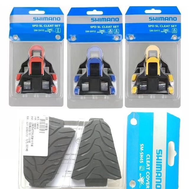 f24be0776ee Shimano SPD SL Road Bicycle Self Locking Pedal Cleat SM SH10 SH11 SH12 0 2  6 Degree Lock Cleats Set   Pedals Cleat Cover SH45 51