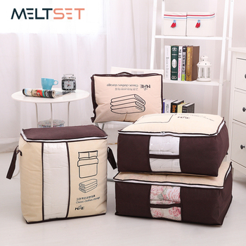 Portable Clothes Storage Bag Wardrobe Closet Organizer Garment Bag Storage for Quilt Blanket Bedding Clothing Bag Dropshipping 2019 new non woven clothes storage bag wardrobe closet organizer folding garment quilt storage bag for bedding blanket pillow