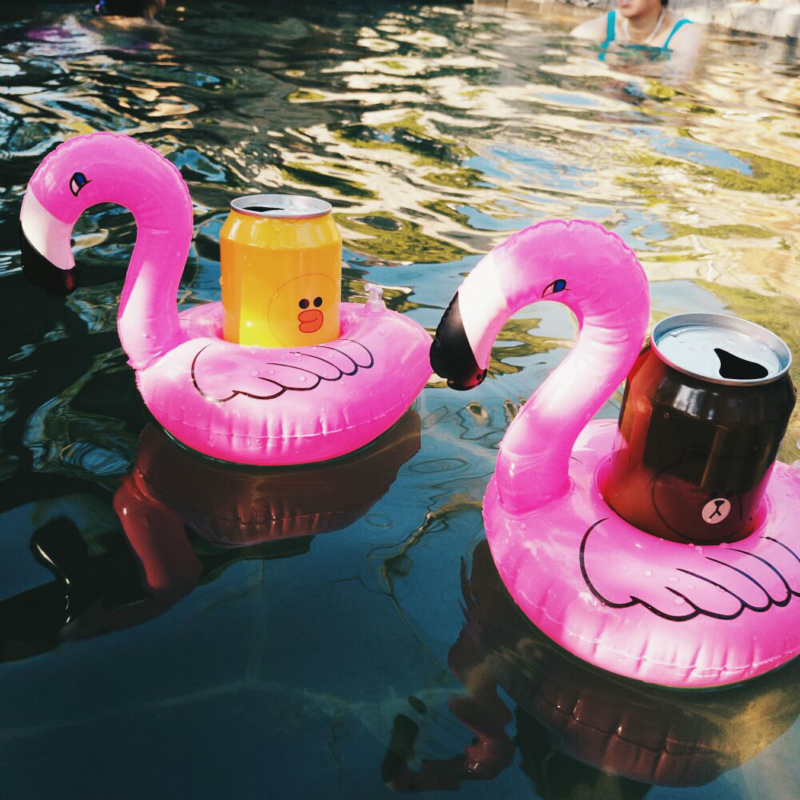 4pcs Mini Floating Inflatable Coasters Drink Cell Phone Holder Stand Pool Event Party Decoration Toy Drop Shipping Fulfillment