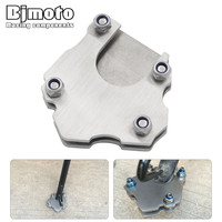 Bjmoto Sporter Scooter Stainless Steel Motorcycle Motorcross Kickstand Side Stand Pad Enlargement Plate Motorbike Stand