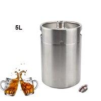 5L Paslanmaz Çelik Mini Fıçı Growler Home Brew Stil Bira Şişe