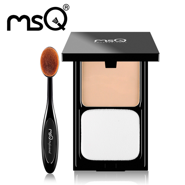Makeup Set Pressed Powder Contour Foundation Palette With Puff Pro Wet or Dry Use For Face+Foundation Tooth Makeup Brush MSQ