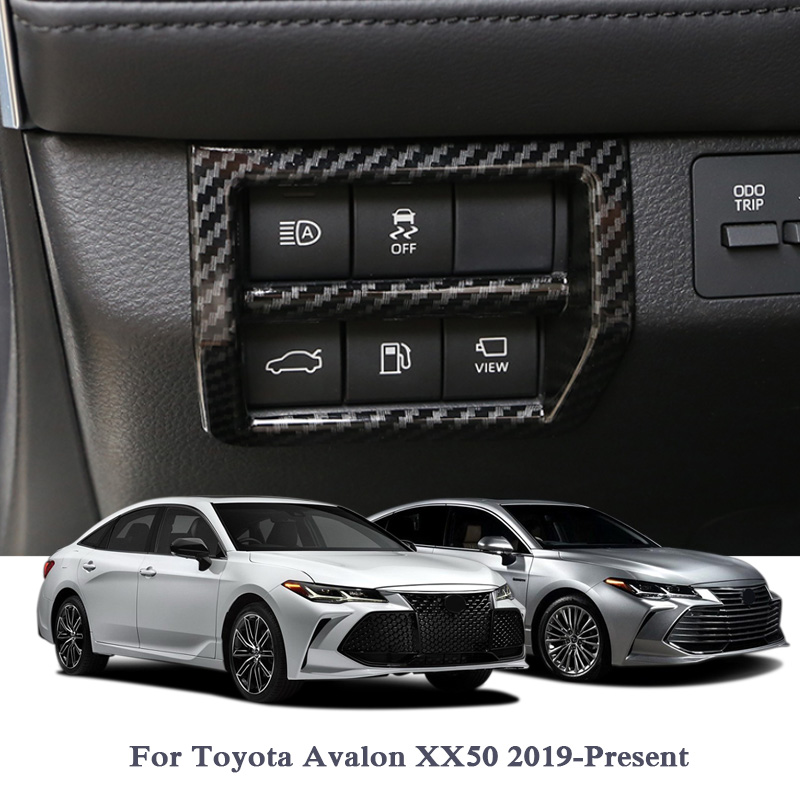 ABS Left Center Control Sequin Outlet Frame Cover Internal Decoration Sequins For Toyota Avalon XX50 2019 Car Accessories