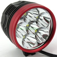 High Brightness 6 x XM L T6 LED 3 Modes Led Headlamp Headlight Bike Light Bicycle Front Lamp + Battery Pack + Charger