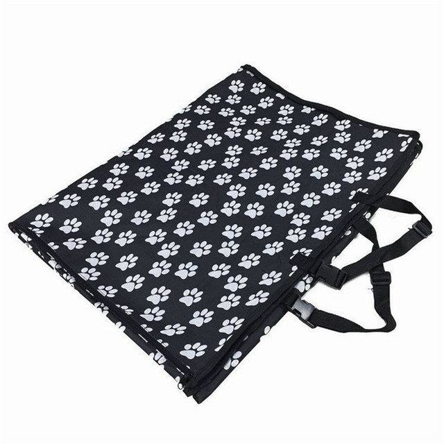 Pet carriers Oxford Fabric Paw pattern Car Pet Seat Cover Dog Car Back Seat Carrier Waterproof Pet Mat Hammock Cushion Protector 2