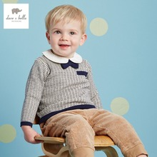 DB2691 dave bella 2016 spring 100% cotton toddlers sweater infant clothes baby preppy style sweater baby boy sweater