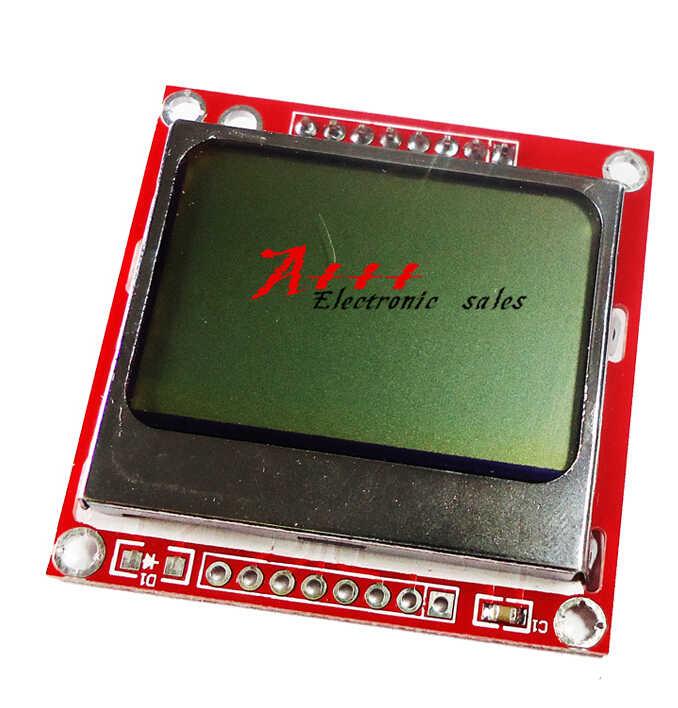 10 piezas Smart Electronics módulo LCD Monitor de pantalla de fondo blanco adaptador PCB 84*48 84x84 x Nokia 5110 pantalla