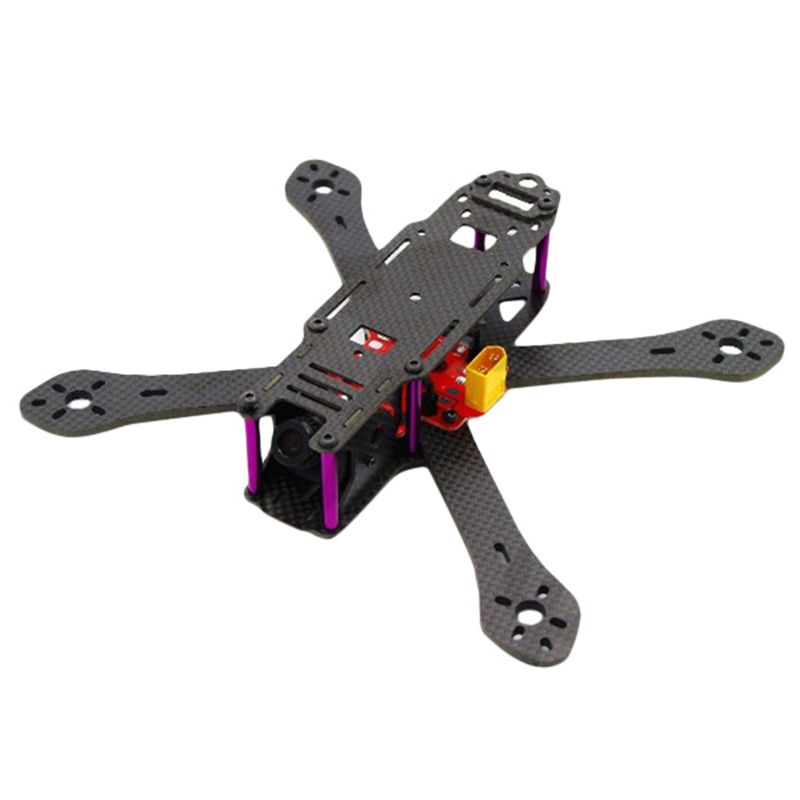High Quality Realacc X4R X5R X6R 180mm 220mm 250mm 4mm Arm Carbon Fiber Frame Kit with BEC Output PDB For RC Multcopter стоимость