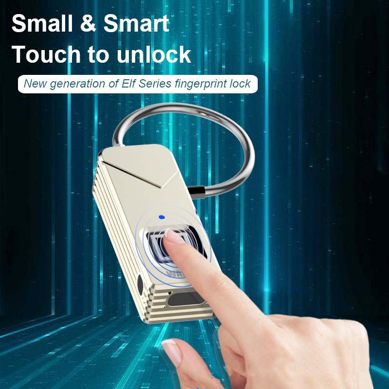 Free Shipping Security Smart Portable Fingerprint Padlock Luggage Lock Bag Drawer Lock free shipping blueskysea 2k s60 body personal security