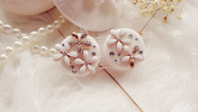 LIUSVENTINA DIY alloy flower double US-pupil storage box contact lens case for eyes contact lenses box for glasses цена