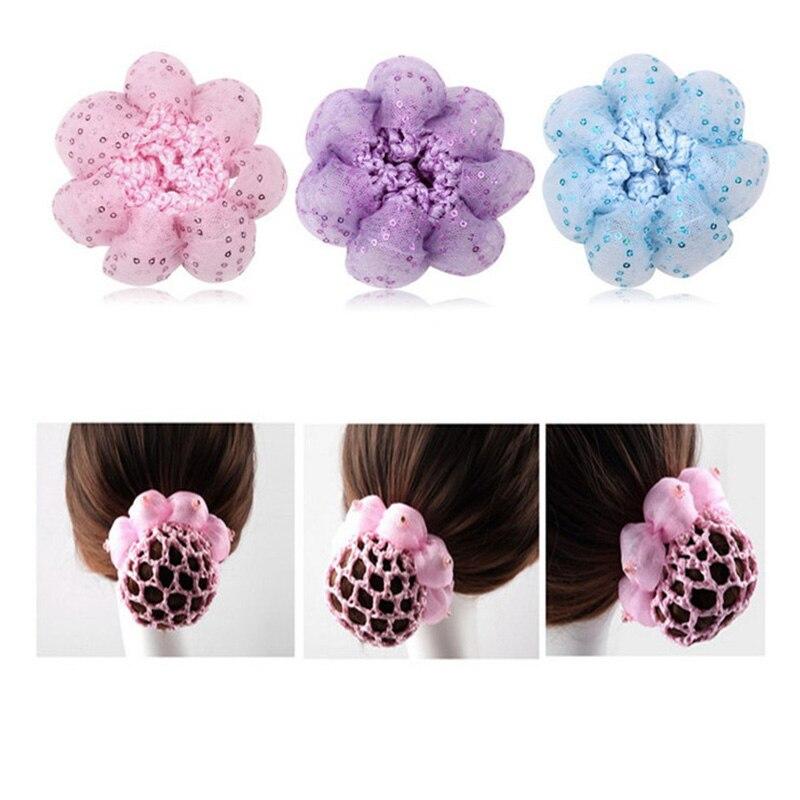 Cute flower girl bun mesh for hair for baby bun net bun cover accessories JB
