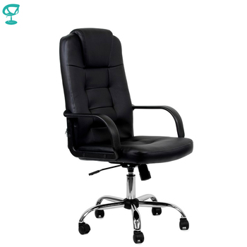 95152 Black Office Chair Barneo K-93 leather high back plastic armrests with gas lift roller free shipping in Russia