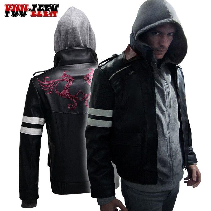 Прототип Alex Mercer куртка+ толстовка вышитая искусственная кожа пальто Косплей Костюм - Цвет: Многоцветный