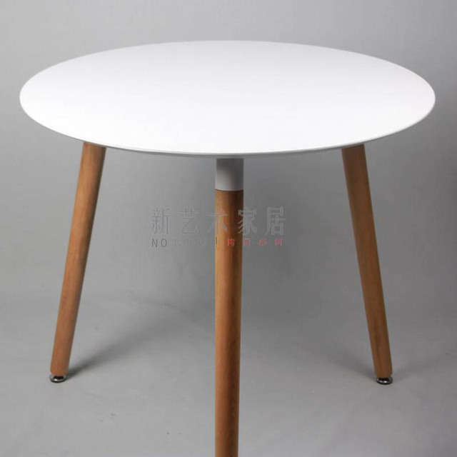 negotiating table, solid wood dining table small round conference