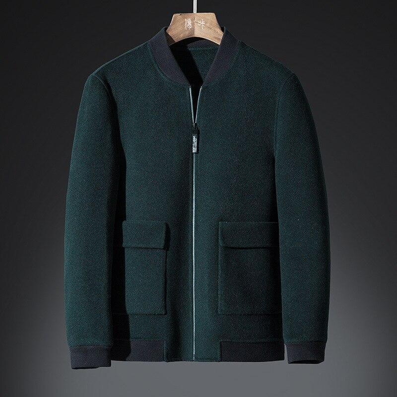 Colour Green Lunghi Giacca Dark Di Degli Cappotto Black Sided Uomini xqYqapvP