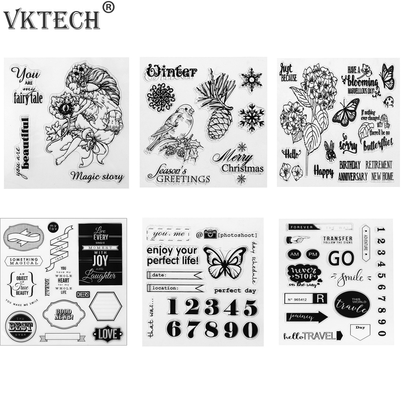 Transparent Silicone Stamp Seal Craft Clear Stamps for Scrapbooking DIY Photo Album Diary Book Decor Stamping lovely animals and ballon design transparent clear silicone stamp for diy scrapbooking photo album clear stamp cl 278