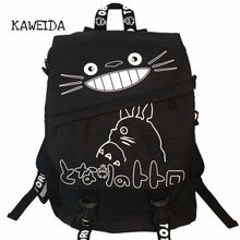 Waterproof Nylon Totoro Backpack prime Laptop Bag Women Casual Day Travel  Shoulder Rucksack School Bag for teenager girls Black 537ef45d63