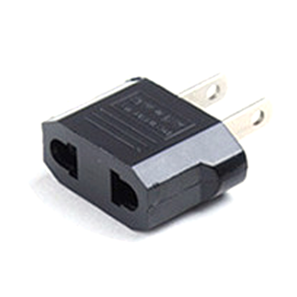 Universal EU UK AU to US USA AC Power Adapter Travel Plug Converter 2 Flat Pin ABS flame retardant material image