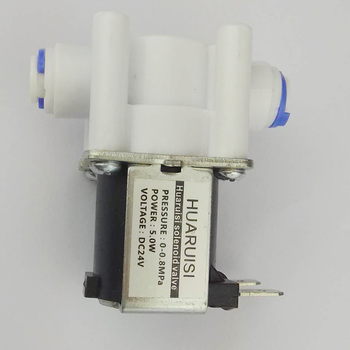 цена на Electric Solenoid Valve Magnetic DC 24V Water Air Inlet Flow Switch 1/4  quick joint access Influent solenoid  24v  5PCS