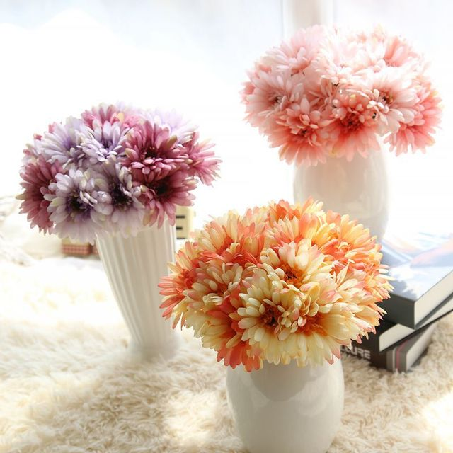 DIY Head Fake Flowers Bouquet Home Party Decor Display Artificial ...
