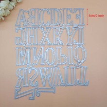 2019 New Arrival Large Big Alphabet Letters Metal Cutting Dies Stencils for DIY Scrapbooking Embossing Paper Crafts 2018