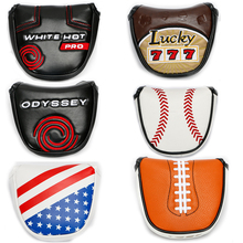 Golf Mallet Head Cover Putter Cover with Magnetic Closure Golf Headcover 6 colour to choose Free Shipping