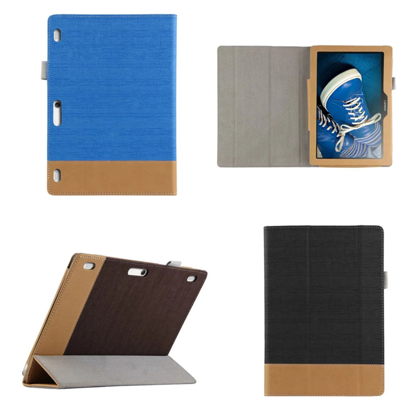 SD Fashion Stitching color Ultra Thin Flip PU Leather Book Case Stand Cover for Lenovo Tab 2 A10-70L A10-70F 10.1 inch Tablet