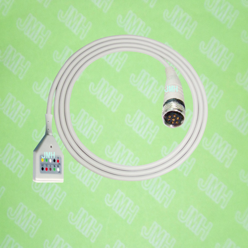 Compatible with GE 8000,8200,8500,Seer Holter Recorder 151 ECG Machine the 409106-001,DIN 5-lead Rozinn holter trunk cable. флюид тональный тон 2 bell флюид тональный тон 2
