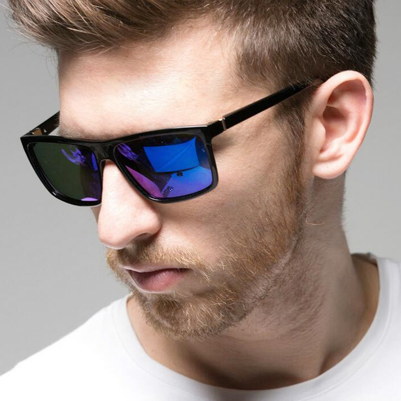 Поляризационные квадратное зеркало солнцезащитные очки Для мужчин бренда Дизайн оттенки солнцезащитные очки мужские очки UV400 драйвер Для ...