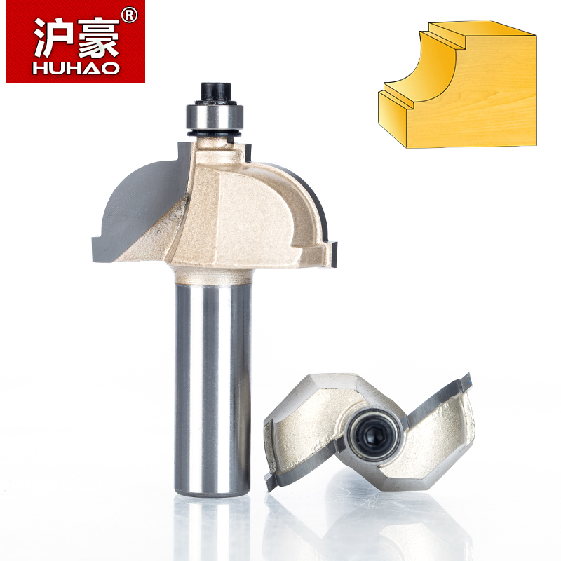 HUHAO 1pc 1/2 Shank Router Bits For Wood Drawing Line Bit With Bearing Woodworking Tools Two Flute Endmill Milling Cutter 1 2 inch hss milling bits shank round nose cove core box router bit shaker cutter tools for woodworking