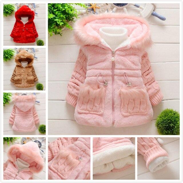 e72444694 Retail Baby Toddler Faux Fur Leopard Coat with belt Girls WinterWarm ...
