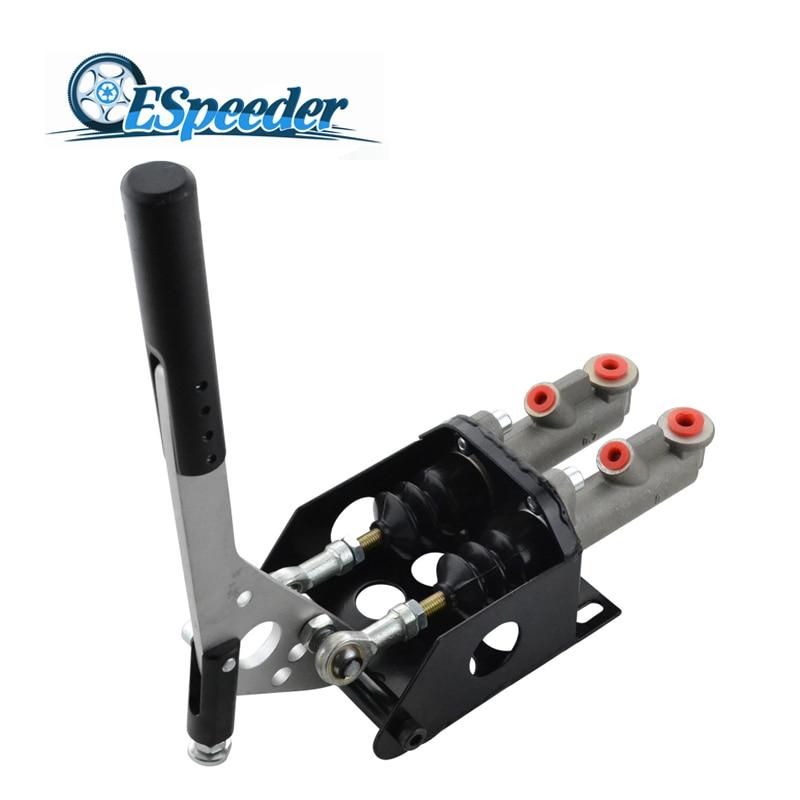 цена ESPEEDER Universal Hydraulic Drift Racing Handbrake Hand Brake Double Cylinder With Master Cylinder E-brake Vertical Hand Brake в интернет-магазинах