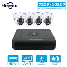 Hiseeu CCTV Camera DVR System AHD 720P/1080P Kit 4 Channel CCTV DVR HVR NVR 5 in 1 Video Recorder Infrared Dome Camera Security