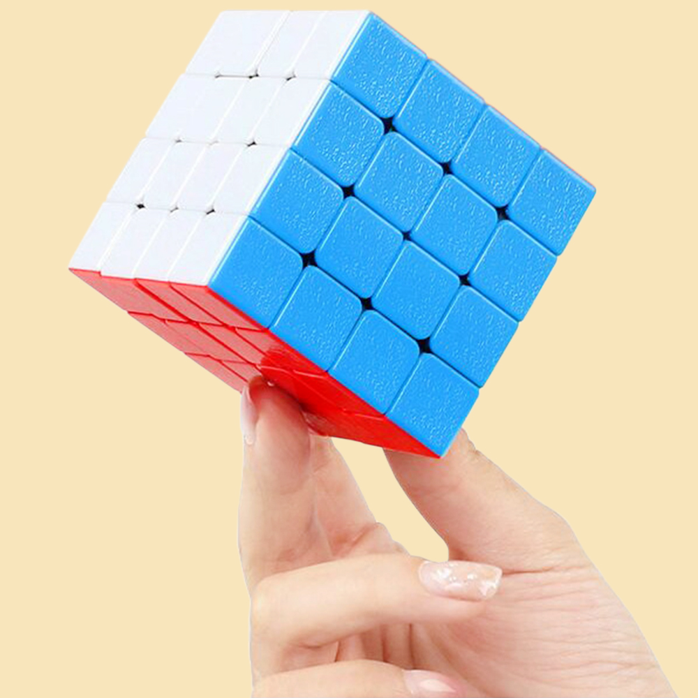 4*4 4x4x4 Speed Magic Cube Anti stress Games and Puzzles Toy 4 Layers ShengShou 6.2CM Cubo Megico Gemstone-texture