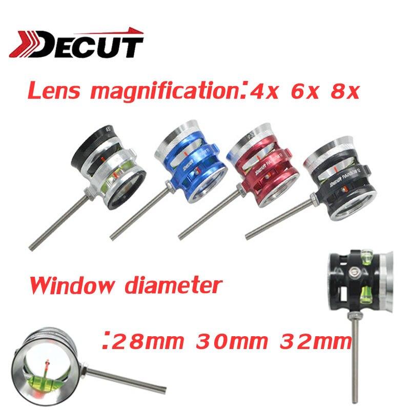 1pc DECUT Archery Bow Sight Rainbow F2 ID32mm Compound Bow Sight Optical Fiber 1Pin Translucent Acrylic