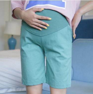 Pantaloncini di maternità di lino cotone vita in vita elastica 2018 - Gravidanza e maternità