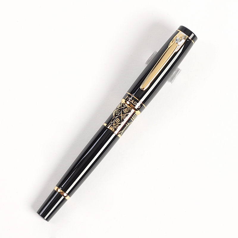 Fountain Pen Black M 18KGP Gold Nib Picasso Gold pen the best gift Free Shipping fountain pen m nib hero 1508 dragon clip signature pens the best gifts free shipping