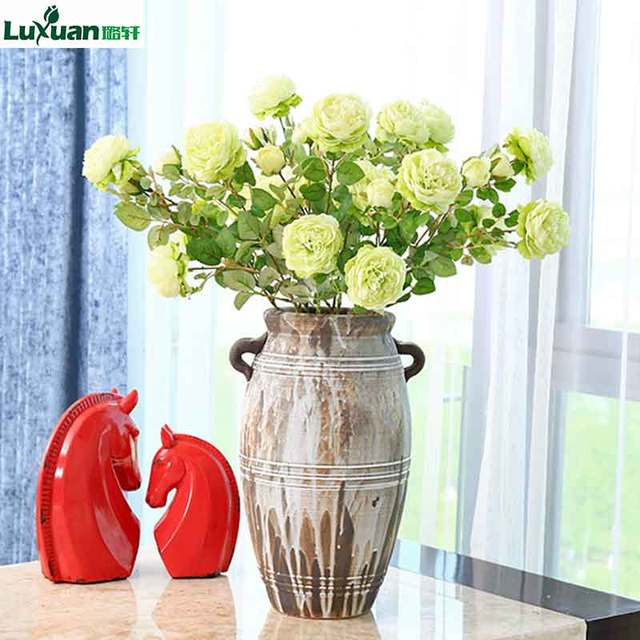 Luxuan Artificial Flower Brazil Fresh Rose Real Touch Rose Flowers ...