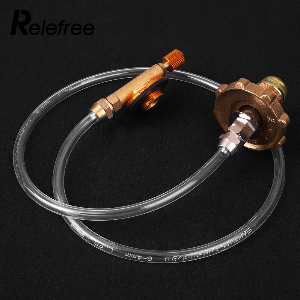 Relefree Portable Camping Refill Adapter Gas Stove Cylinder For Regulator Grill