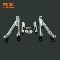 Motorcycle Silver Black Street Bike Rear Foot Pegs Pedal Footrest For HONDA CBR1000RR CBR 1000RR 2008 2009 2010 2011 2014