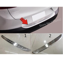 For Mazda CX-3 CX3 2017 2018 2019 car sticks rear outside protect bumper trunk trim cover Stainless Steel plate pedal 1pcs car cover stainless steel outside rear back bumper trim plate trunk frame threshold pedal for nissan qashqai 2016 2017 2018